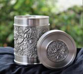 Flower Pewter Box
