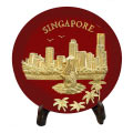 Gold Merlion Plaque (Red)