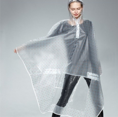 Resuable Poker Dot Rain coat