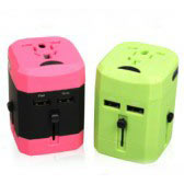 Travel Adaptor with 2 USB Hub [JY-163]
