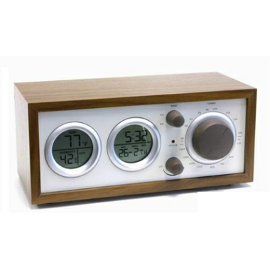 Wooden Radio with Clock R-017