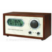 Wooden Radio with Clock R016